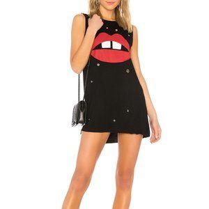 Lauren Moshi Deanna Mini Dress Grommet Lips N32